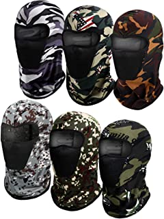 6 Pieces Balaclava Face Mask Motorcycle Mask Windproof Camouflage Fishing Cap Face Cover for Sun Dust Protection (Mixed Ca...