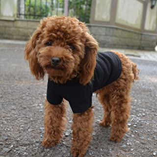 Lovelonglong 2019 Pet Clothing Costumes Puppy Dog Clothes Blank T-Shirt Tee Shirts for Large Medium Small Dogs 100% Cotton...