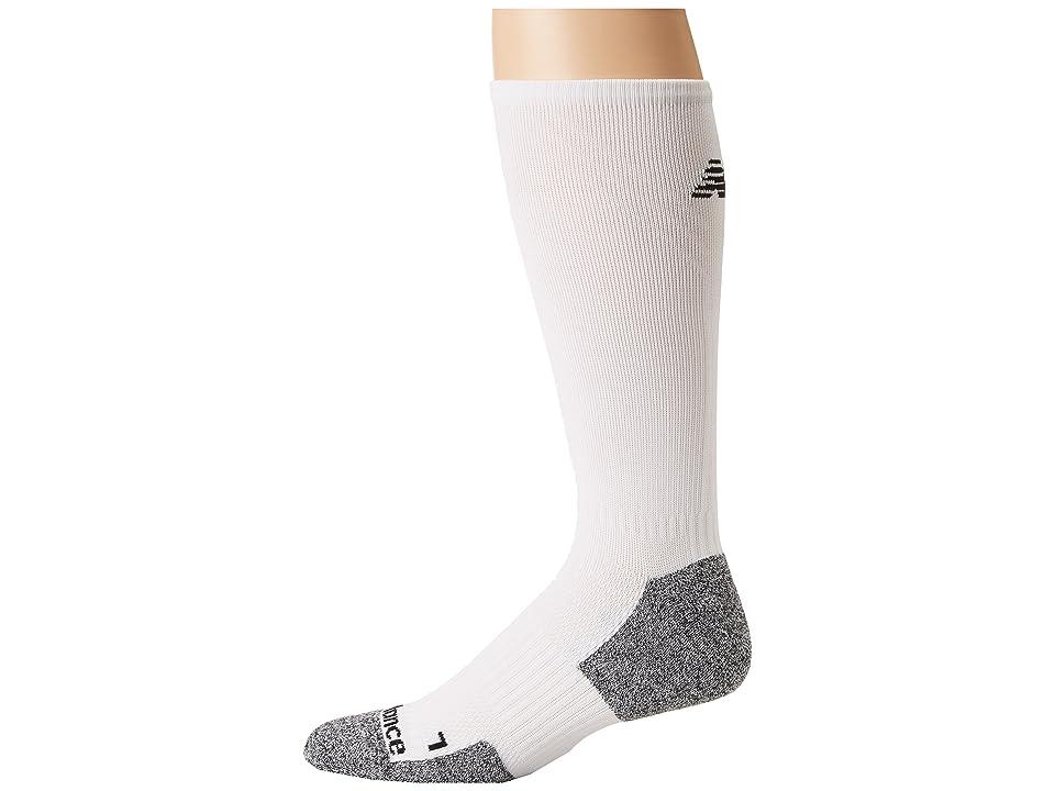 New Balance Cushioned Running Crew Sock 1-Pair Pack (White/Grey) Crew Cut Socks Shoes