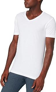 ABANDERADO Camiseta de Algodón Manga Corta Cuello Pico Hombre