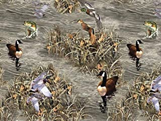 Realtree Ducks and Fish Fleece Fabric - 58-60