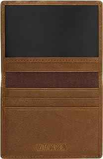 Genuine Leather Bifold Wallet & Giftbox, Tan/Single Window