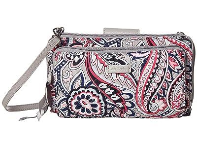 Vera Bradley Deluxe All Together Crossbody (Gramercy Paisley) Cross Body Handbags