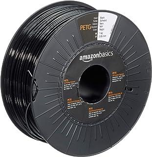 Amazon Basics PETG 3D Printer Filament, 2.85mm, Black, 1 kg Spool