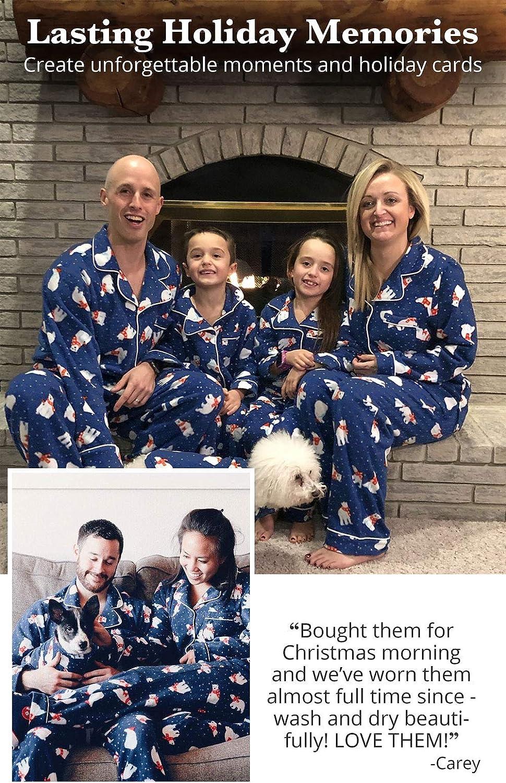 Navy Polar Bear Cozy Fleece PajamaGram Family Matching Christmas Pajamas