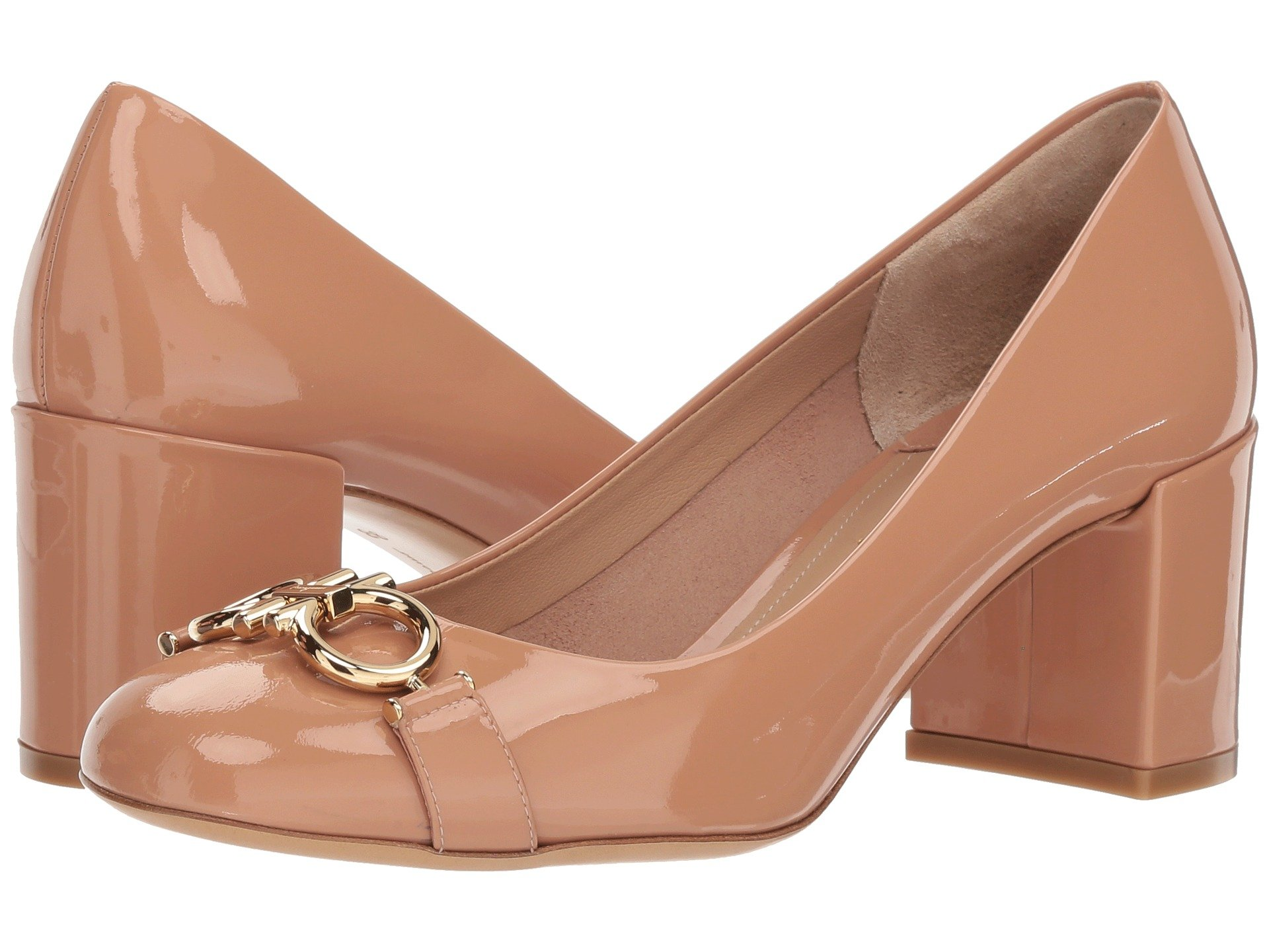 3add2fa542096 Salvatore Ferragamo Garda Round Toe Pump at Luxury.Zappos.com