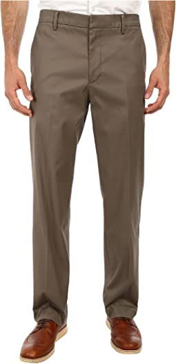 Iron Free Khaki D2 Straight Fit Flat Front