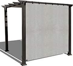 ALION HOME Sun Shade Privacy Panel with Grommets on 2 Sides for Patio, Awning, Window, Pergola or Gazebo - Smoke Grey (10' W X 8' H)