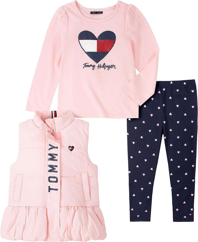 Amazon.com: Tommy Hilfiger Girls' 3 Pieces Vest Pants Set: Clothing