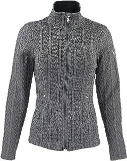 Women's Major Cable Stryke Sweater Jacket, Medium, Gray