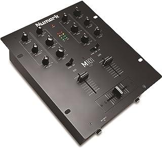 Numark M101USB - Mezclador de DJ Polivalente de 2 Canales, Instalable en Rack, con Ecualización de 2 Bandas, Entrada de Micrófono, Crossfader Reemplazable e Interfaz de Audio Incorporada
