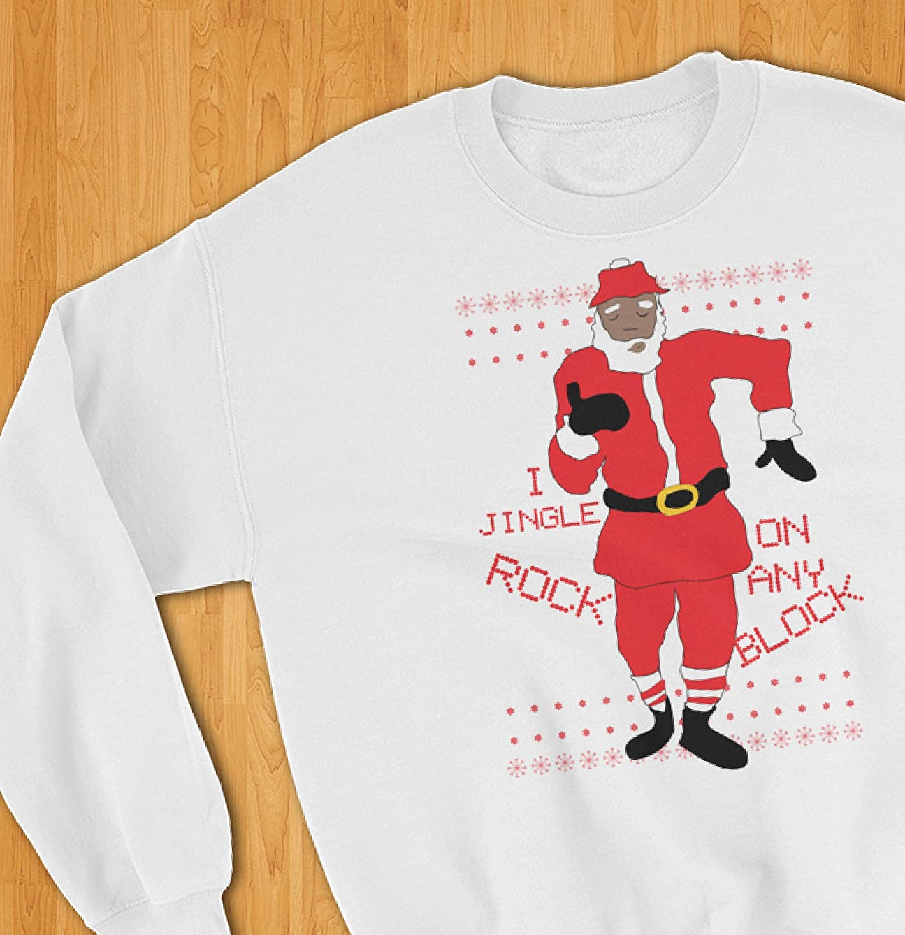 Hilarious Ugly Christmas Sweater Milly Rockin' Santa Claus for Her Him, Unisex Hip Hop Christmas Sweatshirt