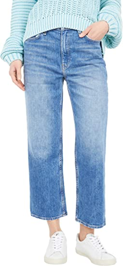 Remi High-Rise Cropped Straight Leg Jeans in Lullaby