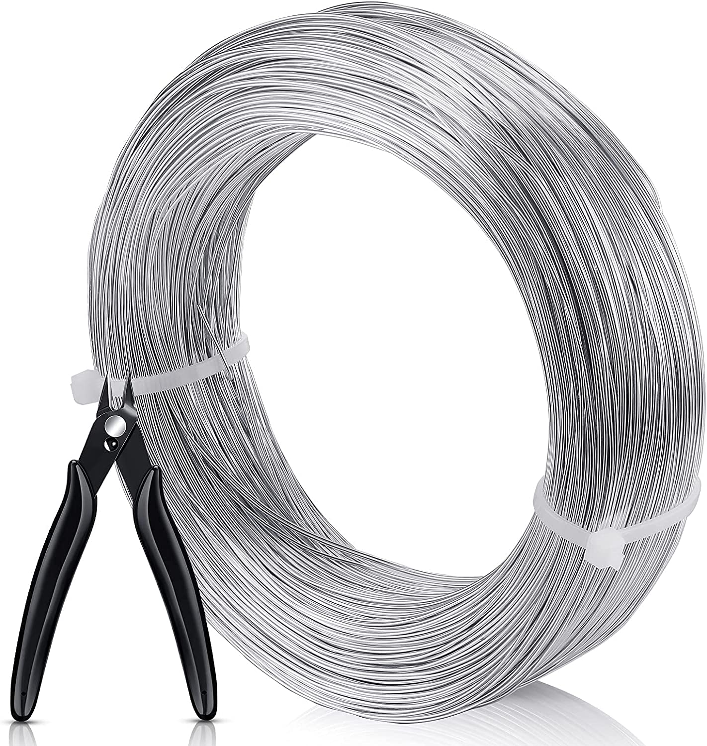 984 Feet Silver Aluminum Wire with Bendable Scul Los Angeles Mall Gauge 20 free Pliers
