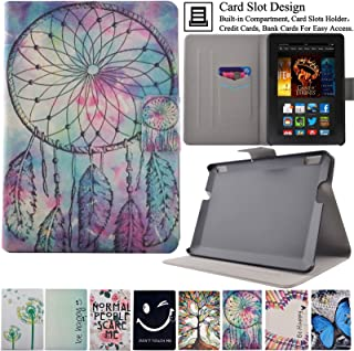 Kindle Fire HDX7 Case, Artyond Ultra Lightweight PU Leather Case Flip Stand Magnet [Auto Wake/Sleep Feature] Protective Slim Folio [Cards Slots] Smart Case For Amazon Kindle Fire HDX 7 2013(Bell)