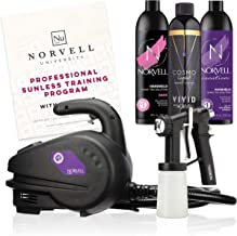 Norvell Sunless Kit – M1000 Mobile HVLP Spray Tan Airbrush Machine + 8 oz Tanning..