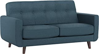 Rivet Sloane Mid-Century Modern Loveseat with Tufted Back, 64.2