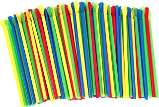 Paragon - Manufactured Fun SNO-Cone Spoon Straws, Multicolor, 200-Count