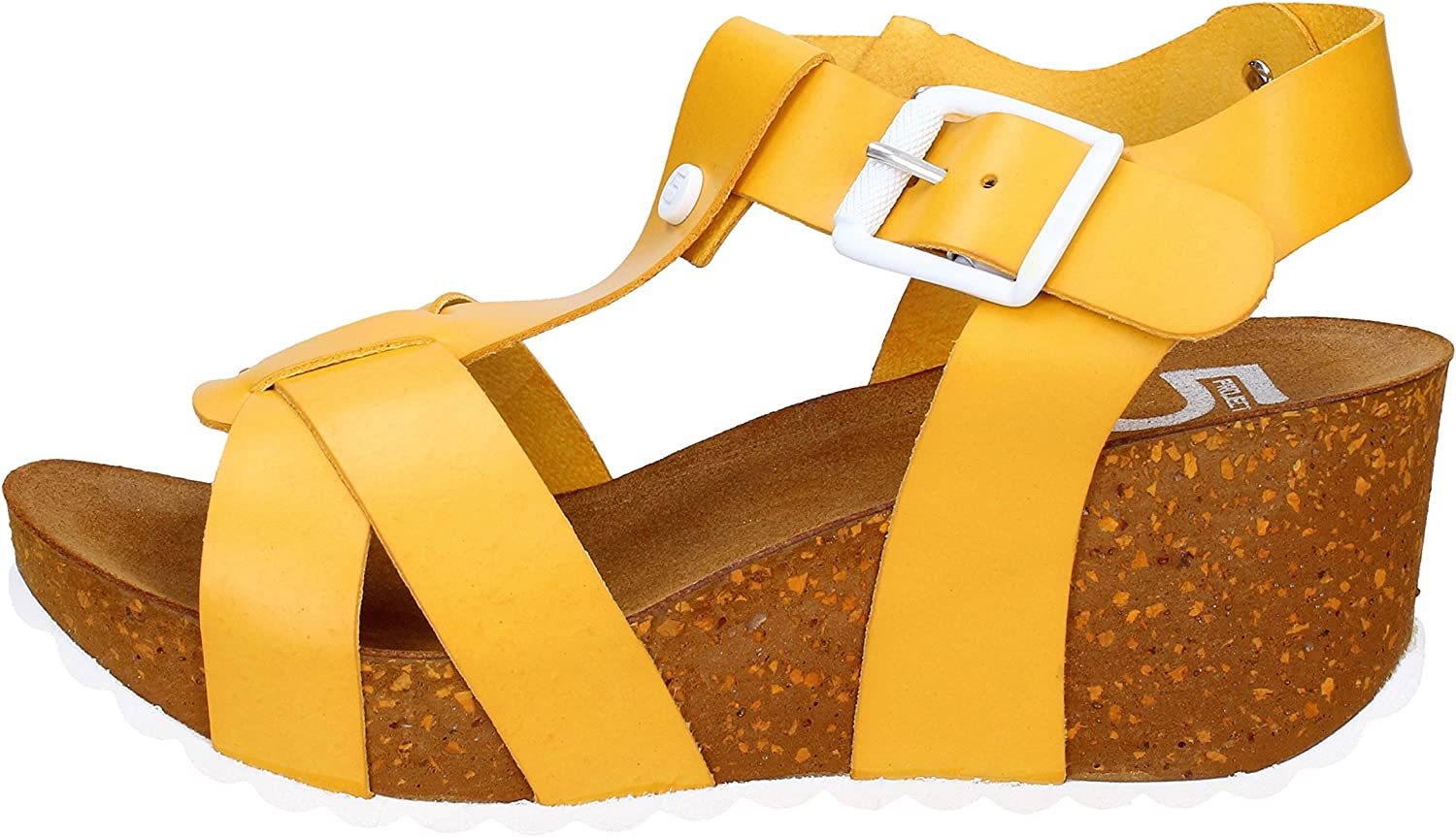 5 PRO JECT Sandals Womens Leather Yellow