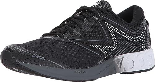 Asics Mens Noosa FF Running chaussures, noir blanc Carbon, 10 Medium US