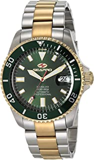 Seapro Men's Scuba 200 Automatic Camping Watch with Stainless Steel Strap, Silver, 22 (Model: SP4325)