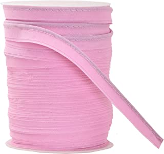 Mandala Crafts Maxi Piping Trim, Single Fold Bias Tape, Welting Cord from Cotton Polyester for Sewing, Trimming, Upholstery (Pink, 2.5mm 0.5 inch 55 Yards)