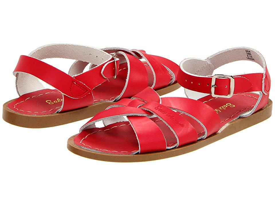 Vintage Sandal History: Retro 1920s to 1970s Sandals Salt Water Sandal by Hoy Shoes The Original Sandal Big KidAdult Red Girls Shoes $44.95 AT vintagedancer.com