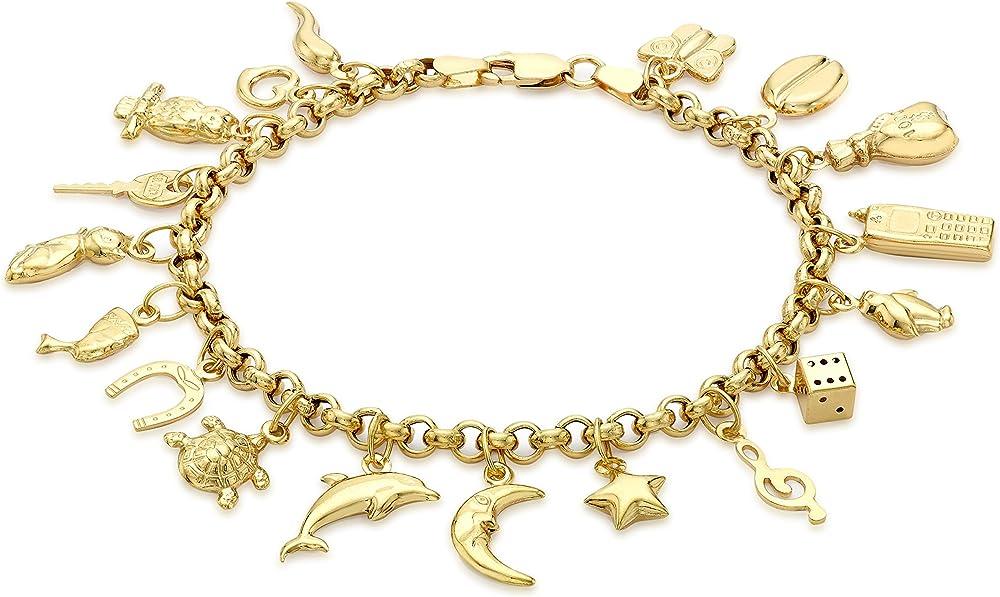 Carissima gold bracciale da donna, in oro giallo 9k/375(9,9gr) 1.24.5712