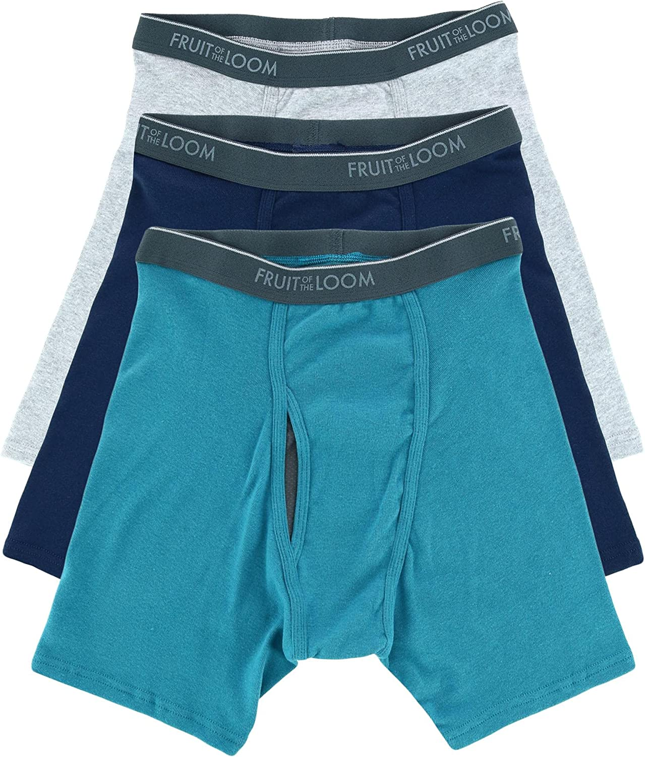 Fruit of the Loom Men's Coolzone Assorted Boxer Briefs - 3 Pack 3BL761C