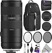 Tamron 70-210mm f/4 Di VC USD Lens for Nikon F with Altura Photo Essential Accessory and Travel Bundle