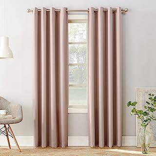 "Best Sun Zero 51705 Barrow Energy Efficient Grommet Curtain Panel, 54"" x 95"", Blush Pink Review"