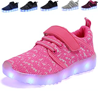AoSiFu Kids LED Light Up Shoes Kids Girls Boys Breathable Flashing Sneakers as Gift