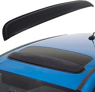 CK Formula Universal 38in / 980mm Sun/Moon Roof Sunroof Moonroof Dark Smoke Rain Shield Guard Vent Windflector Wind Deflector Visor Car