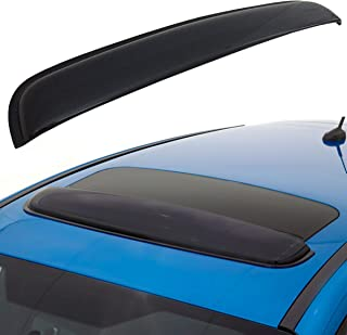 CK Formula Universal 35 inch / 880mm Sun/Moon Roof Sunroof Moonroof Dark Smoke Rain Shield Guard Vent Windflector Wind Deflector Visor Auto