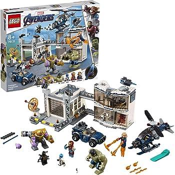 LEGO® Marvel Super Heroes™ L'attaque du QG des Avengers Jeu de construction super-héros, 8 Ans et Plus, 699 Pièces  76131