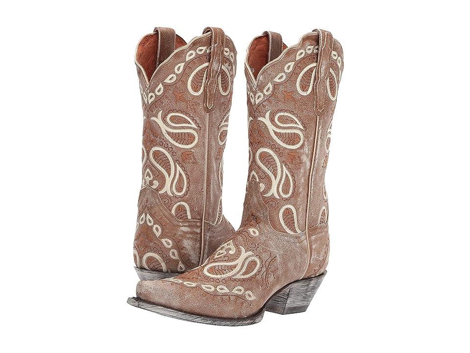 Dan Post Julissa (Tan Leather) Cowboy Boots