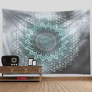 Fendio Grey Bohemian Mandala Tapestry 59.1