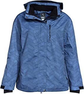 e8c1f3869bedb Pulse Women s Plus Size Extended Insulated Bevel Snow Ski Jacket