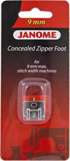 Janome Concealed Zipper Foot For 9mm Machines