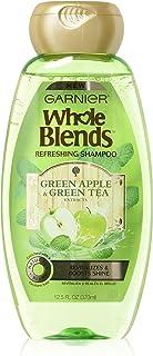 شامبو غارنييه هول بلندز مع مستخلصات التفاح الأخضر والشاي الأخضر، شعر عادي، 12.5 أونصة سائلة