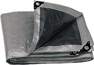 Truper LT-57, Lona reforzada color gris de 5 x 7 m, 180 g/m