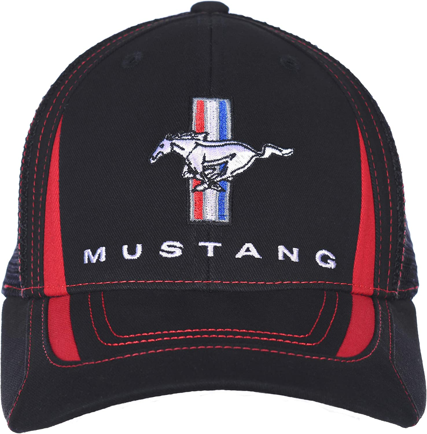 Checkered Flag Outlet sale feature Men's Ford Mustang Trucker Many popular brands Black H Cap Adjustable