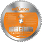 Evolution Power Tools R355TCT-36T (Rage) Multi-Material TCT Blade Cuts Wood, Metal and Plastic, 355 mm