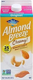 Almond Breeze Almond Cashew, Unsweetened Original, Almondmilk and Cashewmilk Blend, 64, fl oz