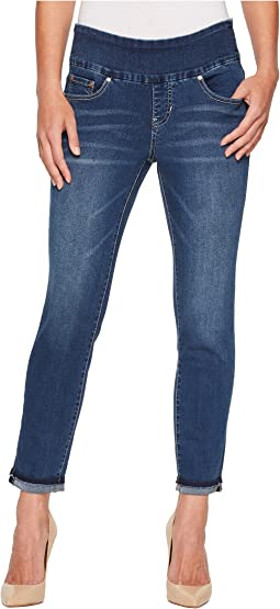 Amelia Slim Ankle Pull-On Jeans in Kodiak Blue/Undone Hem