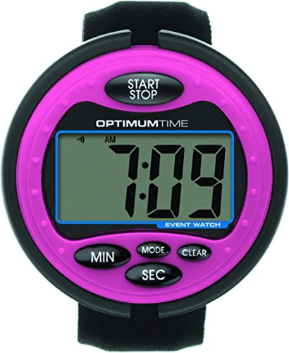 Optimum Time Event Watch - rose - An Easy To Use Eventing Watch - Large Clear Display Screen - Perfect For British Eventing Competitions - Counts Up & Down - Alarm by William Hunter Equestrian