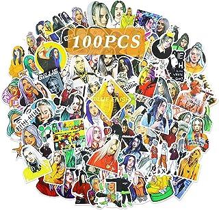 OfferMax Singer Billi_e Eilish Stickers for Laptops and Water Bottles 50 Pcs Waterproof Durable Trendy Vinyl Stickers Idea...