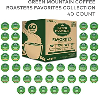Green Mountain Coffee Roaster Coffee Roasters Favorites Collection, Single Serve Coffee K-Cup Pod, Variety, 40