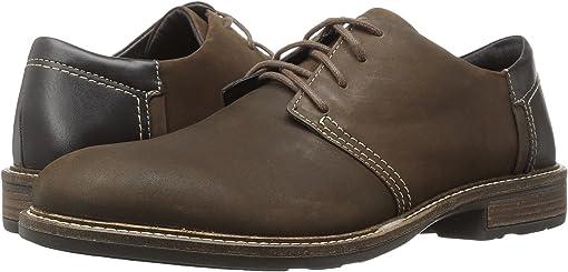Oily Brown Nubuck/French Roast Leather/Hazelnut Leather