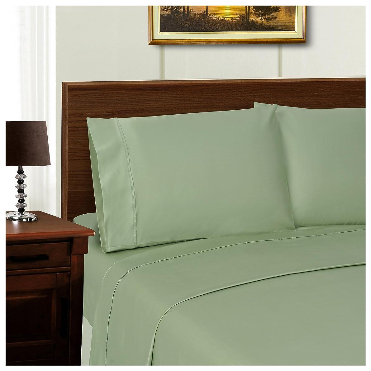 Superior TP1000KGPC SLSG, Cotton 1000 Thread count Envelope closure pillowcases, King, Sage, 2 Piece